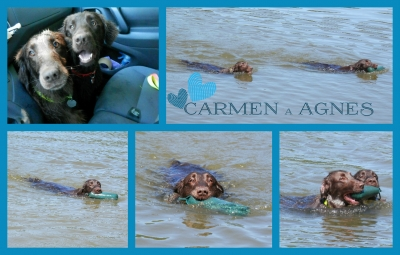 Agnes a Carmen u vody